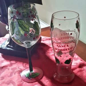 🌞4 FOR $10  CHRISTMAS GLASSES